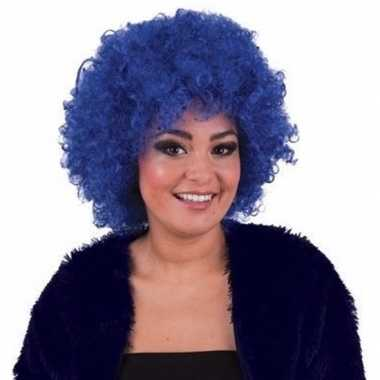 Goedkope blauwe afropruik