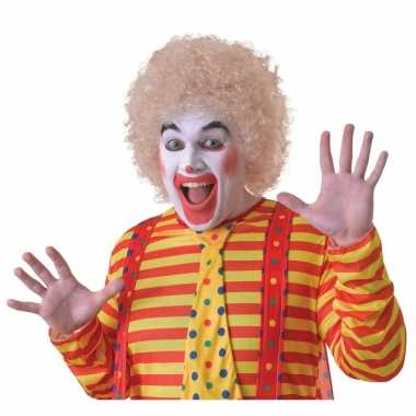 Goedkope blonde clownspruik volwassenen