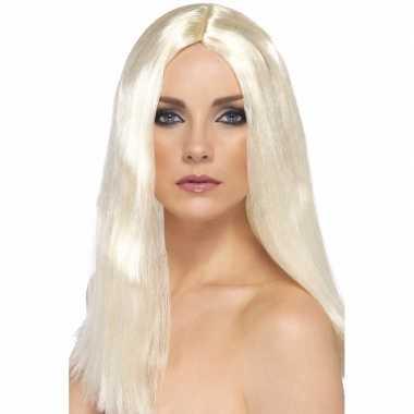 Goedkope blonde dames pruik stijl haar