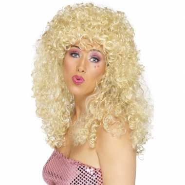 Goedkope  Blonde dolly pruik dames