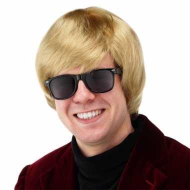 Goedkope  Blonde Duitse heren pruik