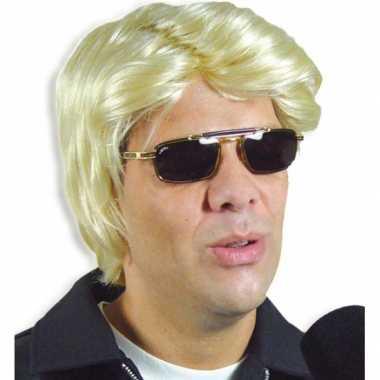 Goedkope  Blonde feestpruik heren