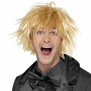 Goedkope blonde jaren pruik heren 10099557