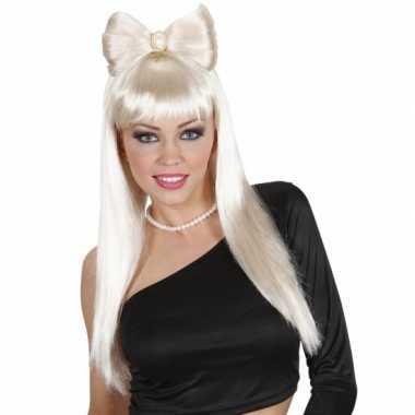 Goedkope  Blonde Lady Gaga look a like pruik