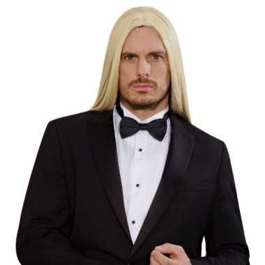 Goedkope  Blonde lange pruik heren