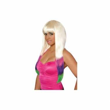 Goedkope  Blonde Nicki pruik dames