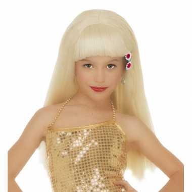 Goedkope  Blonde Pamela pruik meisjes