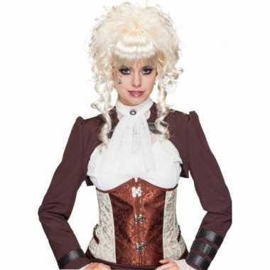 Goedkope  Blonde pruik opgestoken krullend haar