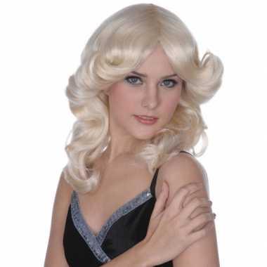 Goedkope  Blonde s dames pruik