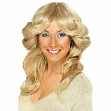Goedkope blonde seventies pruiken dames