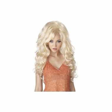Goedkope  Blonde Sexbomb pruik