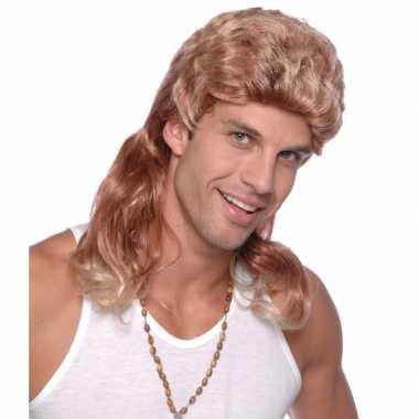 Goedkope  Blonde tokkie pruik heren