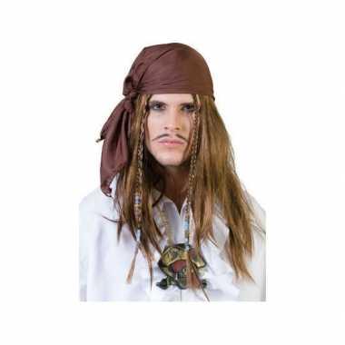 Goedkope  Bruine piraten bandana pruik