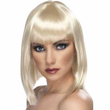 Goedkope  Carnaval damespruik blond