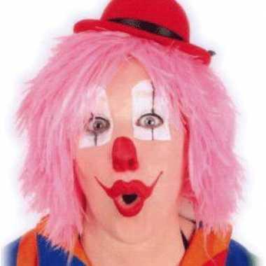 Goedkope  Clownspruiken roze