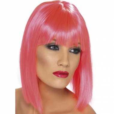 Goedkope dames pruiken roze