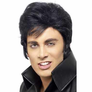 Goedkope  Elvis pruik volwassennen