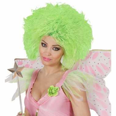 Goedkope  Fee dames pruik neon groen