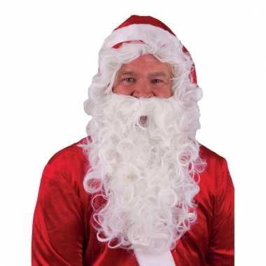Goedkope  Feestartikelen Kerstman baard pruik