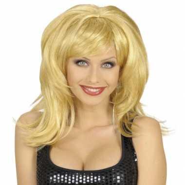 Goedkope  Flirty dames pruik blond