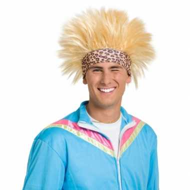 Goedkope  Funny pruik blond zweetband