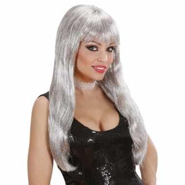Goedkope  Glitter pruiker zilver