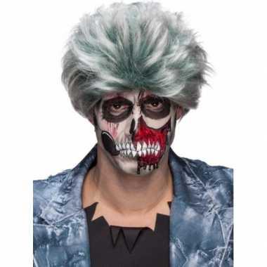 Goedkope  Grijze zombiepruik heren