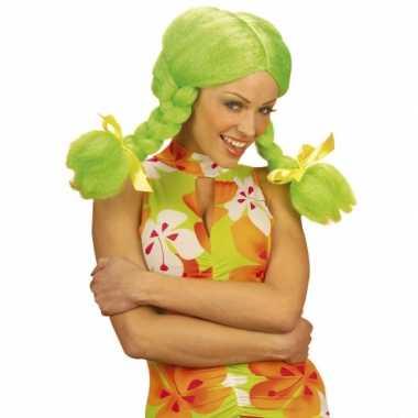Goedkope  Groene Dolly pruik dames