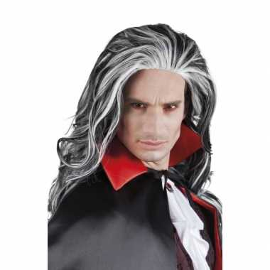 Goedkope  Halloween Grijze vampier pruik volwassenen