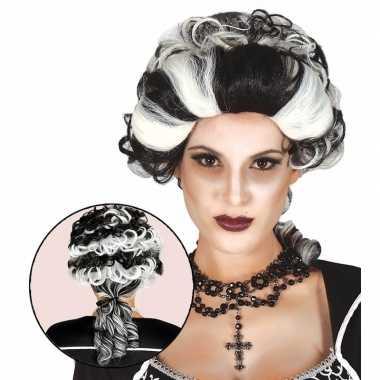 Goedkope halloween markies vampier / dracula damespruik