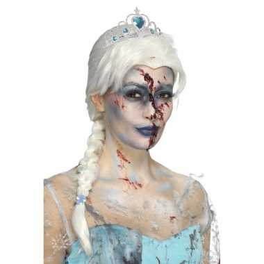 Goedkope halloween zombie froze to death damespruik