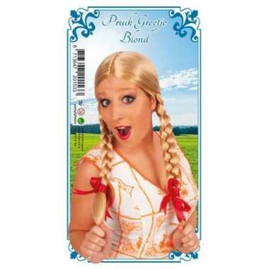Goedkope  Heidi blonde dames pruik