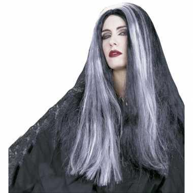 Goedkope  Heksen damespruik zwart/paars