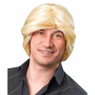 Goedkope  Heren pruik blond haar