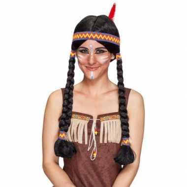 Goedkope  Indianen damespruik vlechten