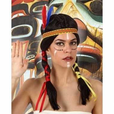 Goedkope indianen verkleed pruik staarten dames
