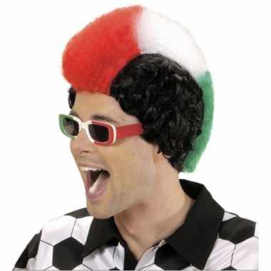 Goedkope  Italie supporters pruik heren