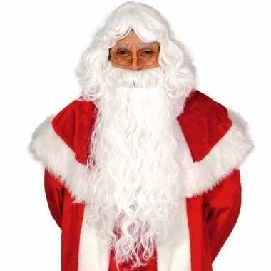 Goedkope kerstman set baard pruik
