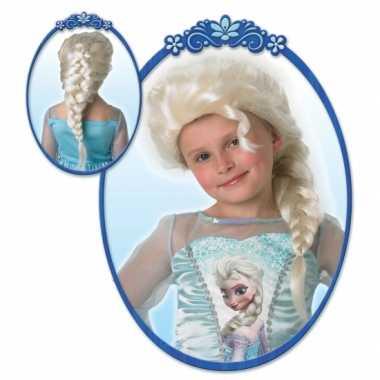 Goedkope  Kinderpruik Elsa uit Frozen