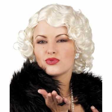 Goedkope  Korte blonde pruik Marilyn