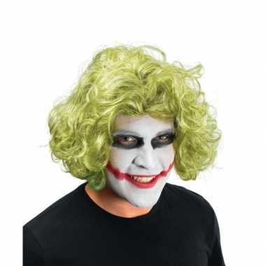 Goedkope  Krullen pruik groen Joker