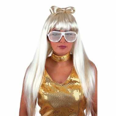Goedkope  Lady Gaga pruiken blond haar