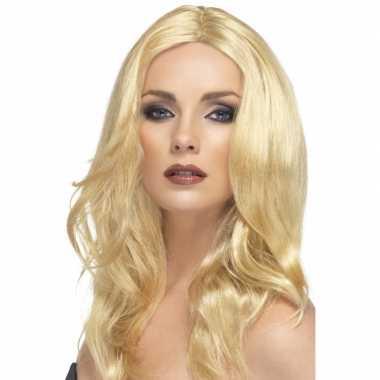 Goedkope  Lange blonde damespruiken Superstar
