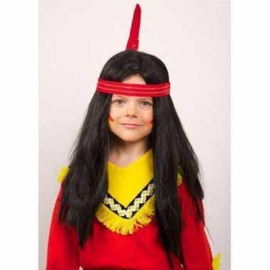 Goedkope  Lange indianen pruiken kinderen
