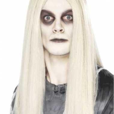 Goedkope  Lange pruik wit haar
