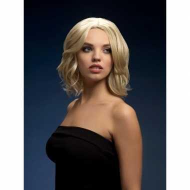 Goedkope luxe blonde korte pruik olivia dames