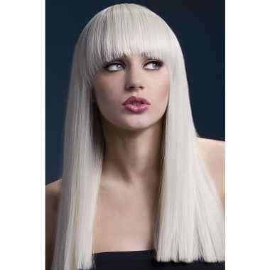 Goedkope luxe blonde lange pruik alexia dames