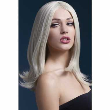 Goedkope luxe blonde pruik sophia dames