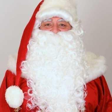 Goedkope luxe kerstmannen baard pruik
