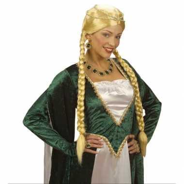 Goedkope  Middeleeuwse damespruik vlechten